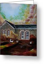 English Cottage In The Autumn Greeting Card
