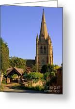 English Country Church Greeting Card