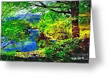 English Country Lake 1d Greeting Card