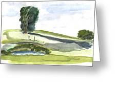 English Countryside Greeting Card