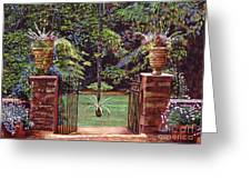 English Garden Elegance Greeting Card