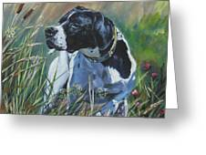English Pointer In The Field Greeting Card