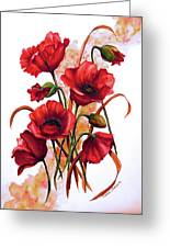 English Poppies 2 Greeting Card