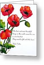 English Poppy   Poem Greeting Card