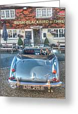 English Pub English Car Greeting Card