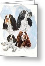 English Springer Spaniel W/ghost Greeting Card