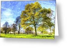 English Summer Farm Art Greeting Card