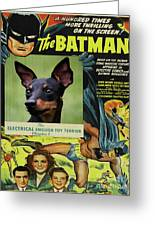 English Toy Terrier Art Canvas Print - Batman Movie Poster Greeting Card