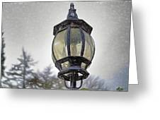 English Victorian Style Park Lamp Greeting Card