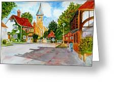 English Village Street Greeting Card