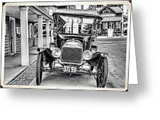 Englishtown New Jersey Antique Classic Car Greeting Card