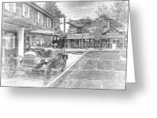 Englishtown New Jersey Classic Car Greeting Card