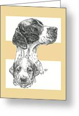 English Pointer And Pup Greeting Card