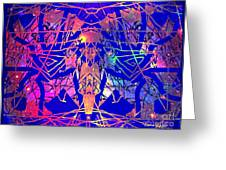 Enigma In Abstraction Greeting Card