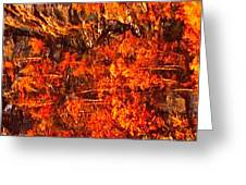 Enigma Orange Greeting Card