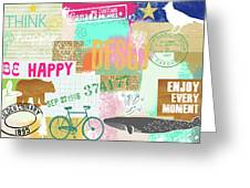 Enjoy Every Moment Collage Greeting Card