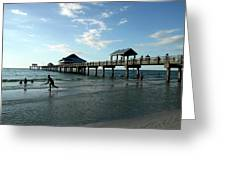 Enjoy The Beach - Clearwater Pier Greeting Card