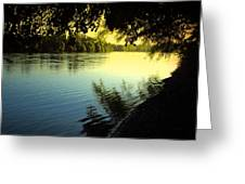 Enjoying The Scenic Beauty Of The Sacramento River Greeting Card