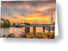 Enkhuizen Sunset Greeting Card