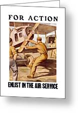 Enlist In The Air Service Greeting Card