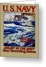 Enlist In The Navy - Help Your Country Greeting Card