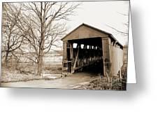 Enochsburg Indiana Covered Bridge Greeting Card