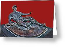 Enos Country Slaughter Statue - Busch Stadium Greeting Card