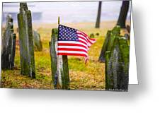 Enriched American Flag - Remember Greeting Card