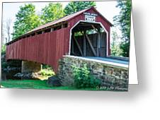 Enslow/turkey Tail Covered Bridge Greeting Card