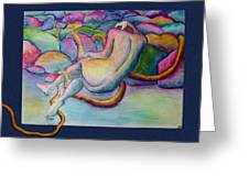 Entangled Figure With Rocks Greeting Card