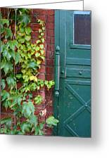 Enter Vine Door Greeting Card