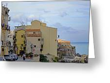 Entering Cefalu In Sicily Greeting Card