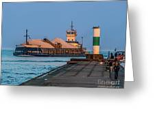 Entering Grand Haven Greeting Card