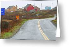 Entering Peggys Cove 6068 Greeting Card