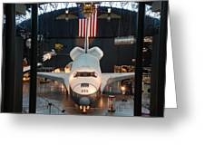 Enterprise Space Shuttle Greeting Card by Renee Holder