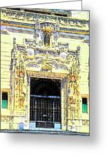 Entrance Casa Grande Greeting Card