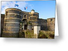 Entrance Gate Of Angers Castle Greeting Card
