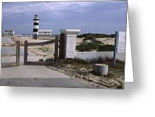 Entrance Of A Lighthouse, Cape Recife Greeting Card