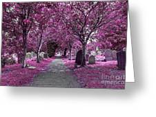 Entrance To A Cemetery Greeting Card