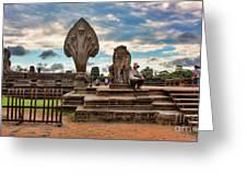 Entrance To Angkor Wat  Greeting Card