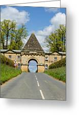 Entrance To Burghley House Greeting Card