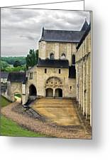 Entrance To Fontevraud Abbey Greeting Card