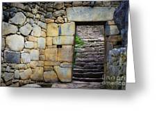 Entrance To Machupicchu Greeting Card