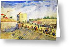 Entrance To Paris With A Horsecar Greeting Card