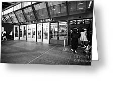 entrance to Port Authority bus terminal New York City USA Greeting Card