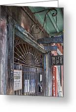 Entrance To Preservation Hall, New Orleans Greeting Card