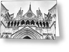Entrance To Royal Courts Of Justice London Greeting Card