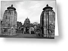 Entrance To The Mukteswar Temple In Bhubaneswar India Greeting Card