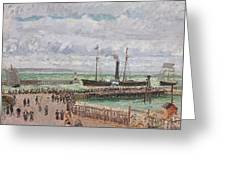 Entrance To The Port Of Le Havre And The West Breakwaters Greeting Card