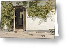 Entrance To The Rectory At Hill Place Greeting Card